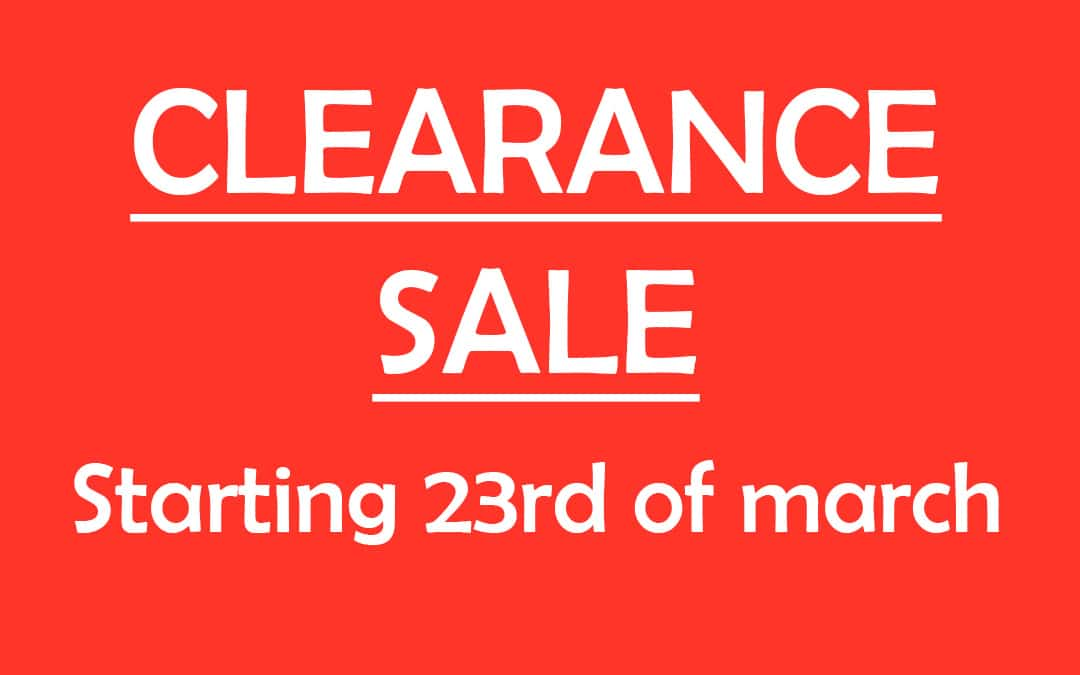 Clearance winter 2019