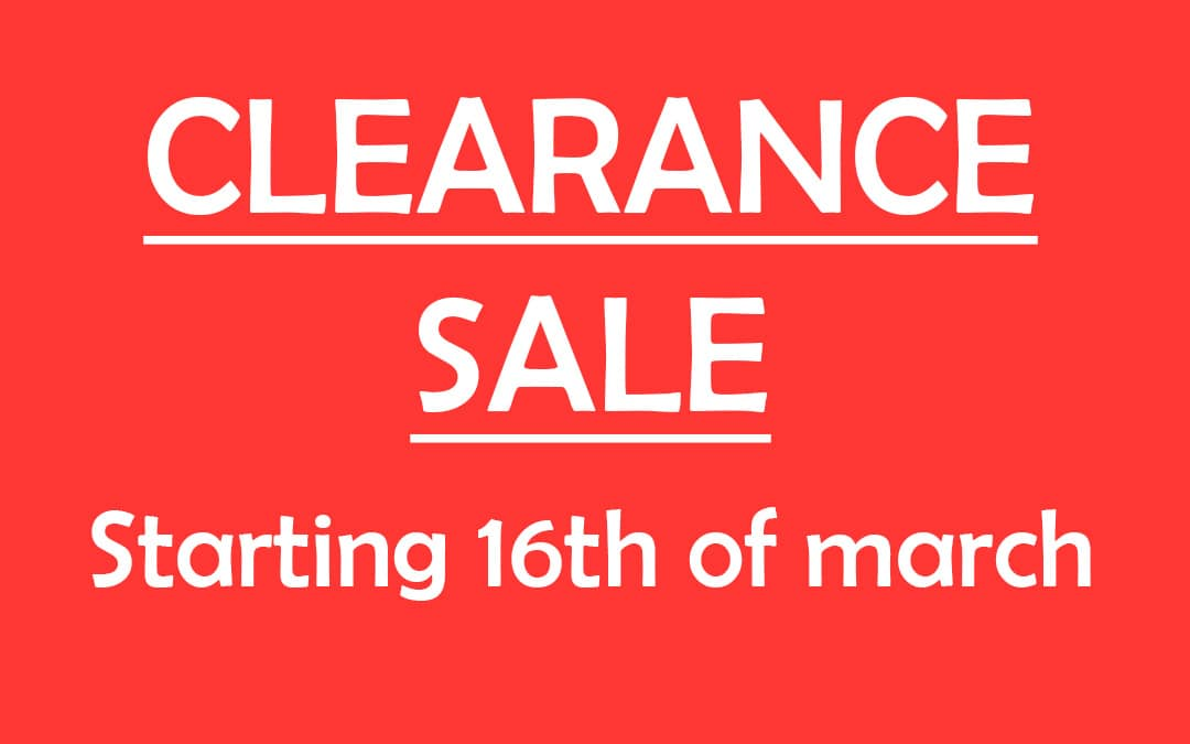 Clearance winter 2018